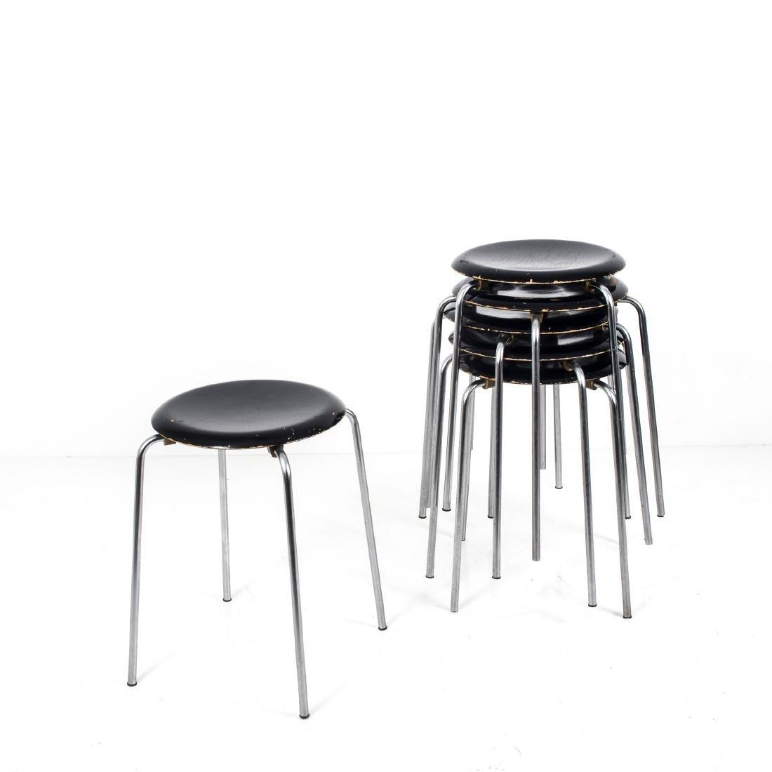 Six 'Dot' - '3170' stacking stools, c. 1955 - 3