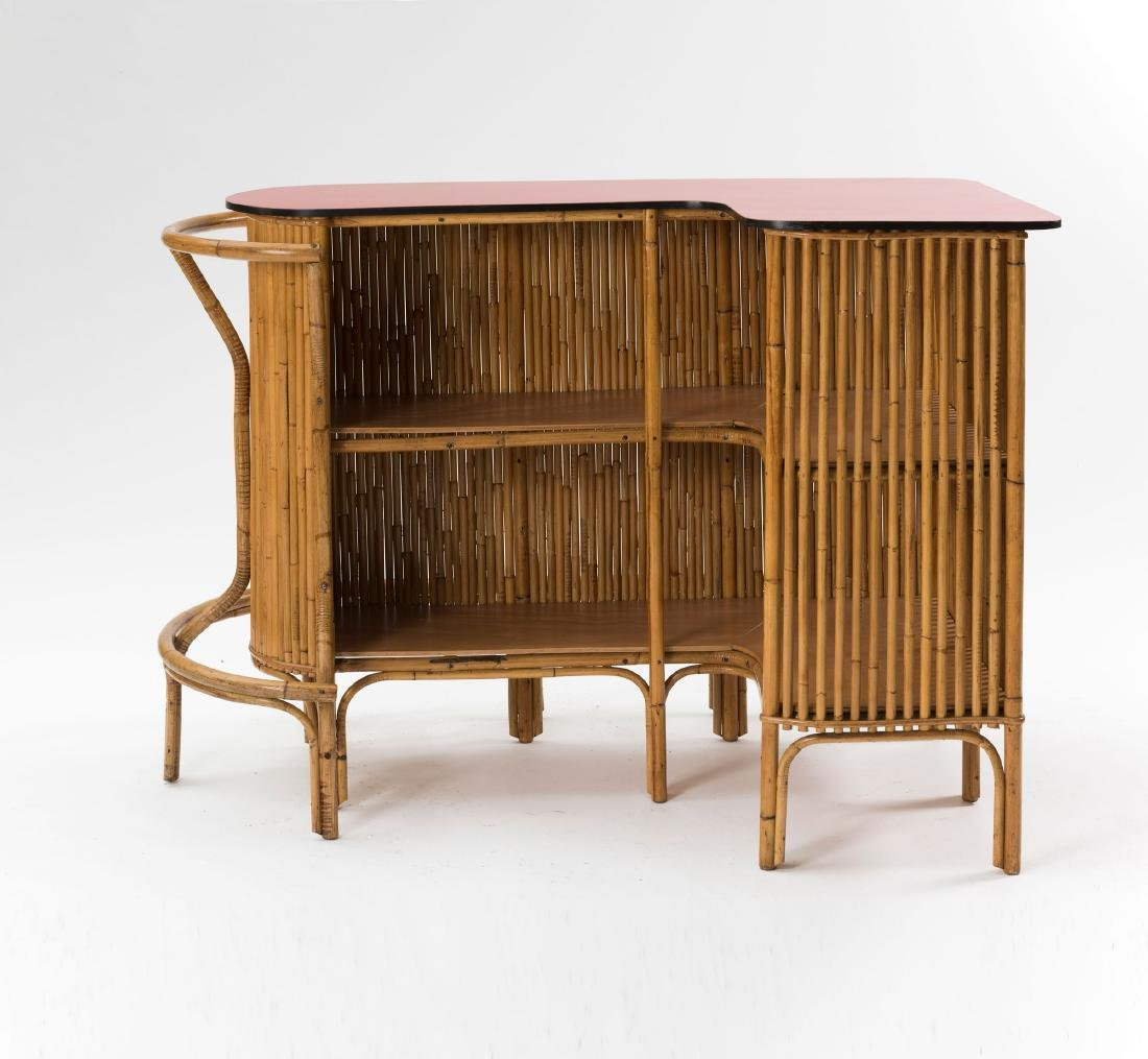 Bar counter with two bar stools, c. 1955 - 3