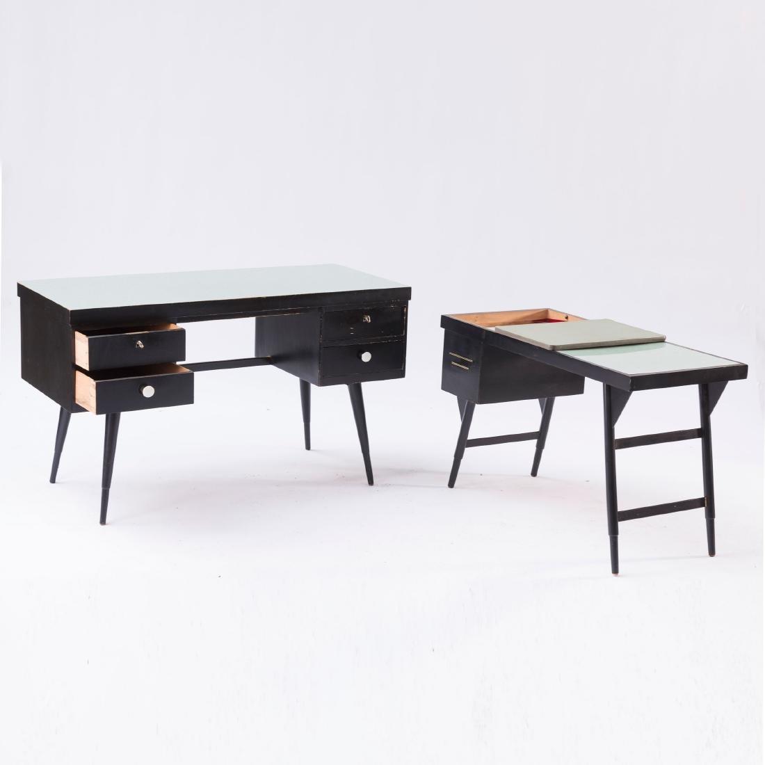 Desk and typewriter desk, c. 1955 - 2
