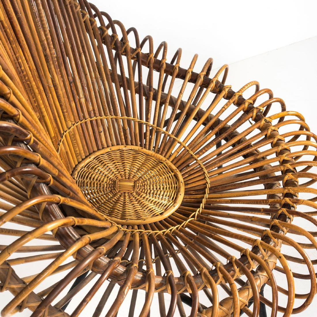 Wicker chair and ottoman, c. 1955 - 2