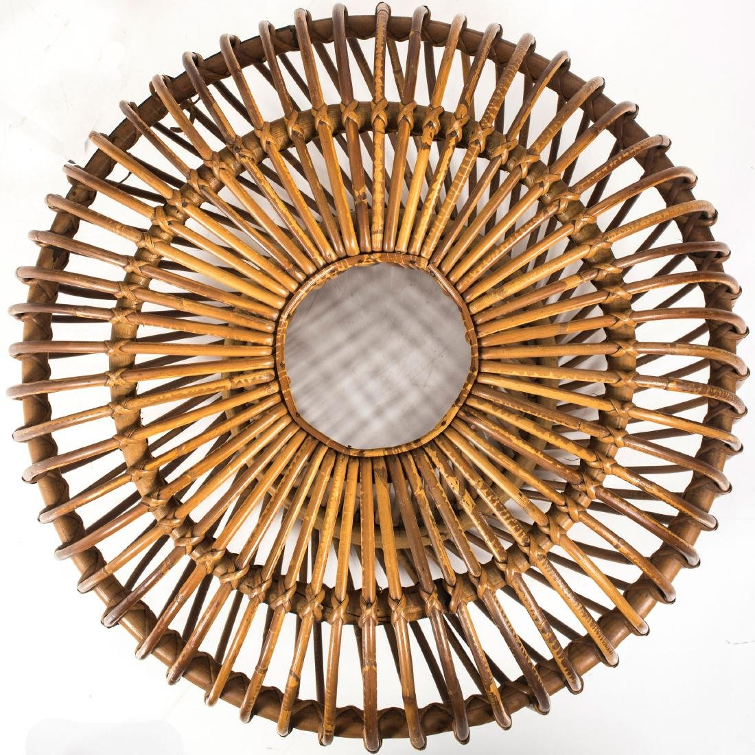 Wicker chair and ottoman, c. 1955 - 8