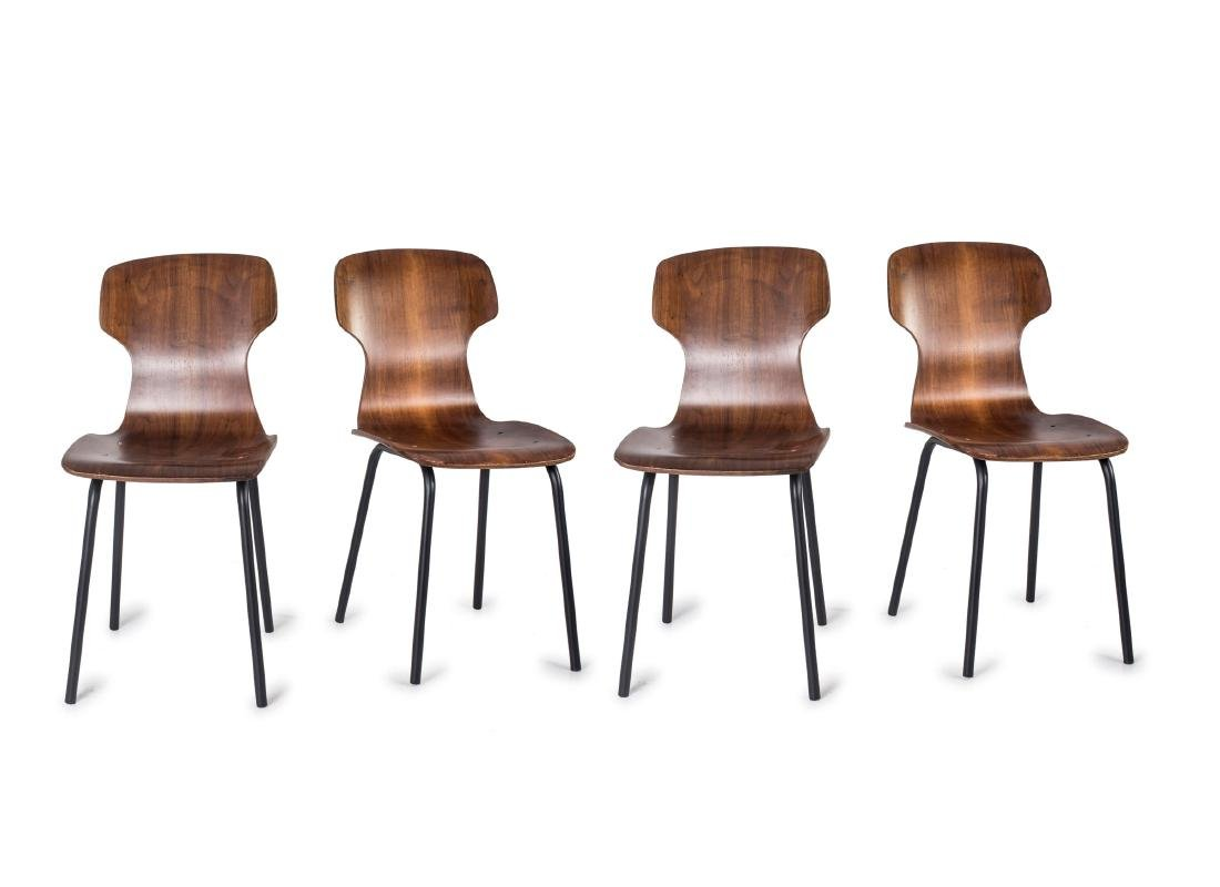 Eight side chairs, c. 1958
