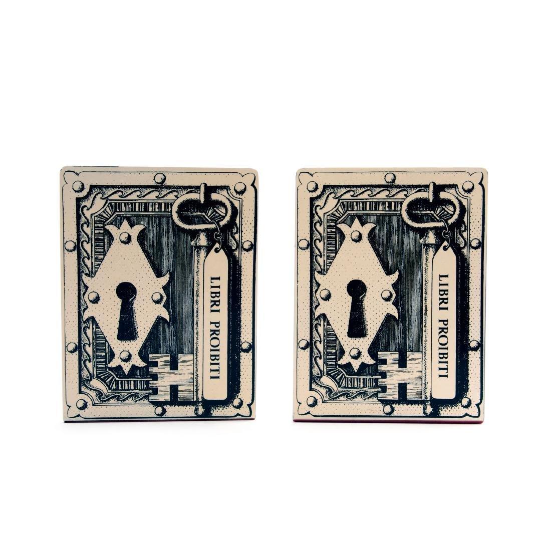 Two 'Libri Proibiti' bookends, 1950/60s