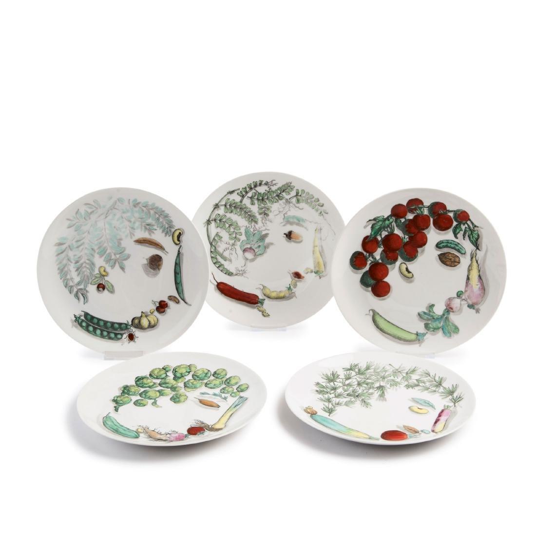 Five 'Vegetalia' plates, 1960s