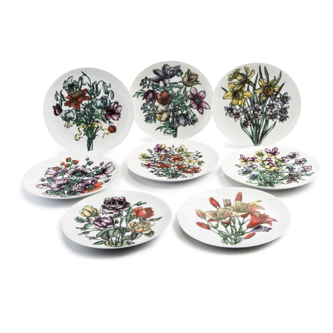 Eight 'Fiori' plates, 1960s