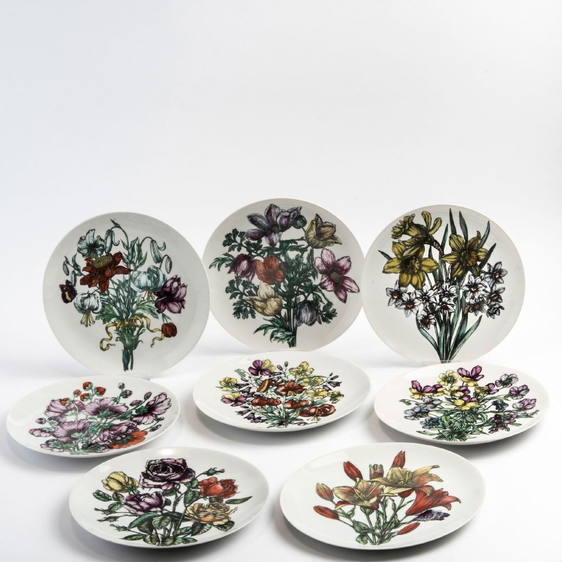 Eight 'Fiori' plates, 1960s - 4