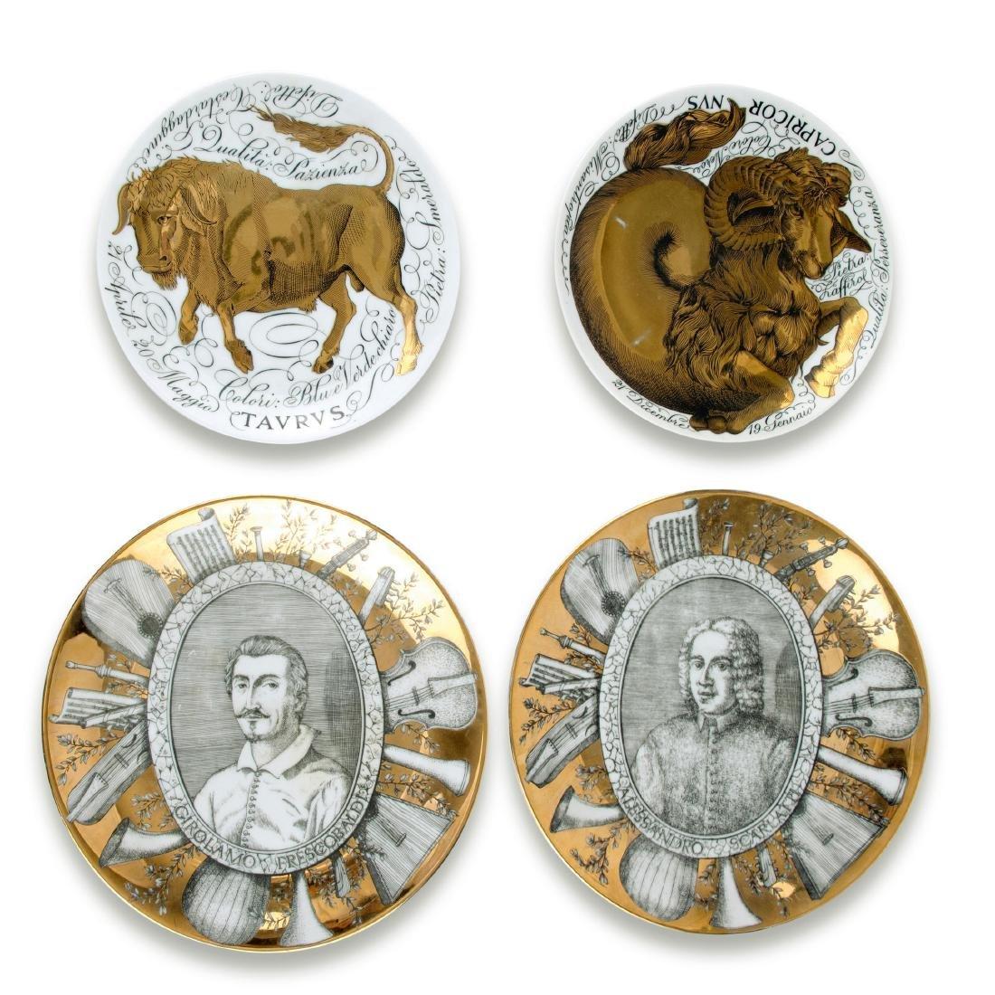 Four plates, 'Gli Influssi Astrali' and 'Grandi