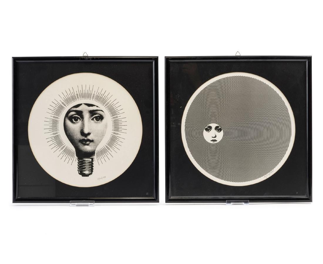 Two 'Tema e Variazioni' silkscreen prints, 1998
