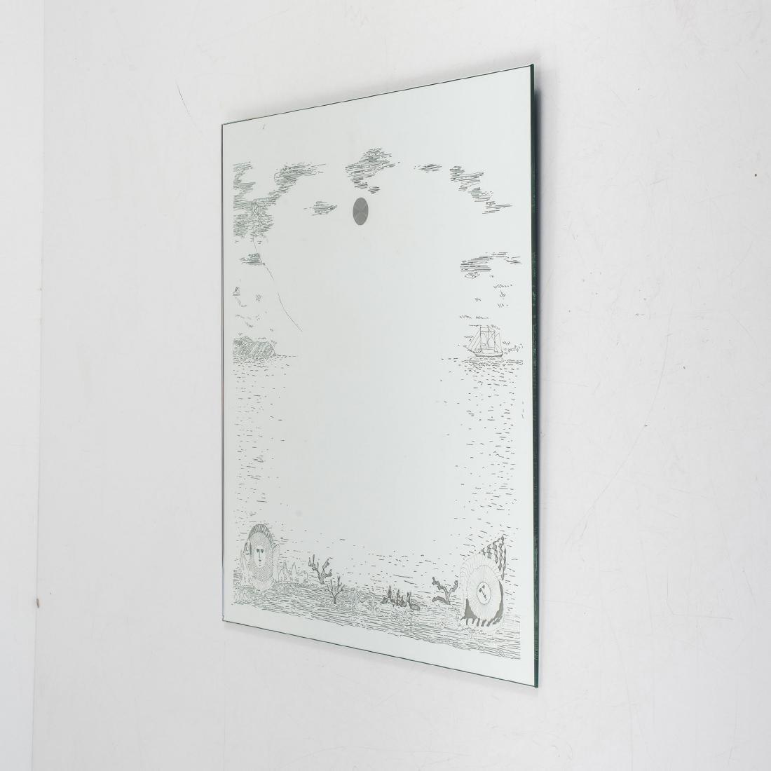 Illuminated 'Fondo Marino' mirror, 2000s - 2