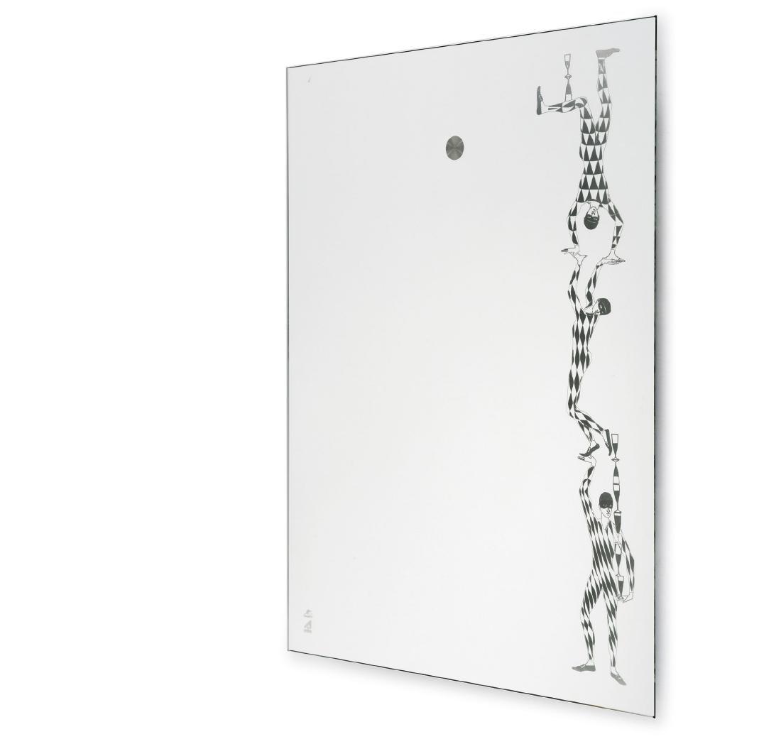 Illuminated 'Acrobati' mirror, 2000s