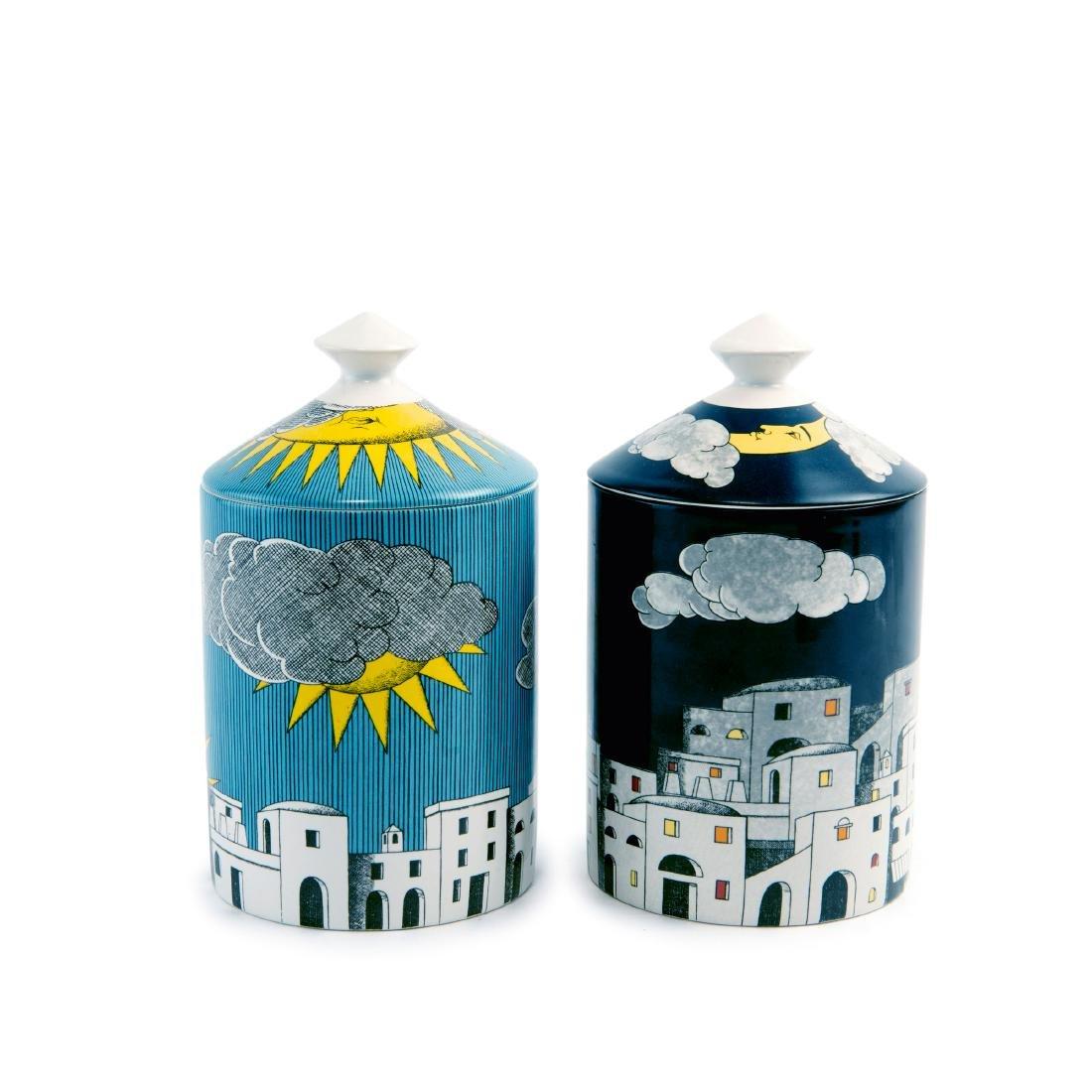 Two jars, 'La notte di Capri' and 'Il sole di Capri',
