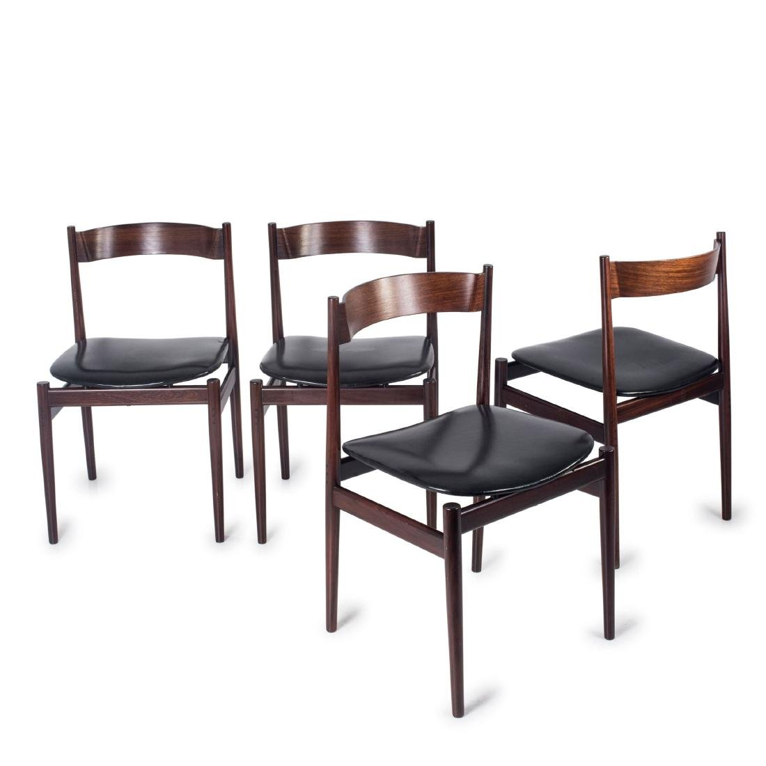 Four '107' chairs, 1960