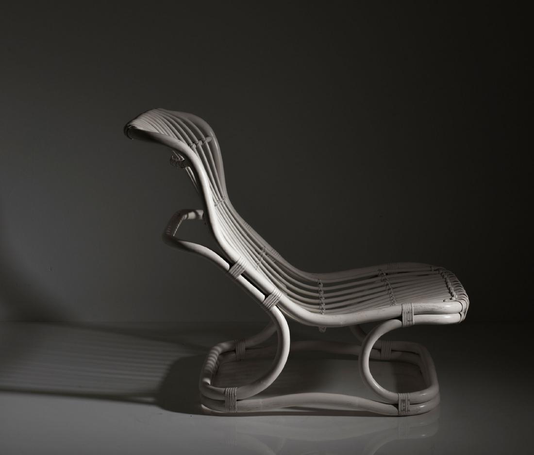 'Punto e Virgola' wicker chair, 1960s - 2