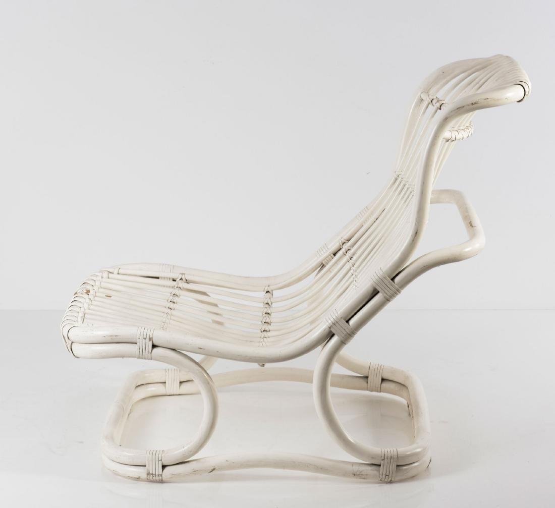 'Punto e Virgola' wicker chair, 1960s - 7