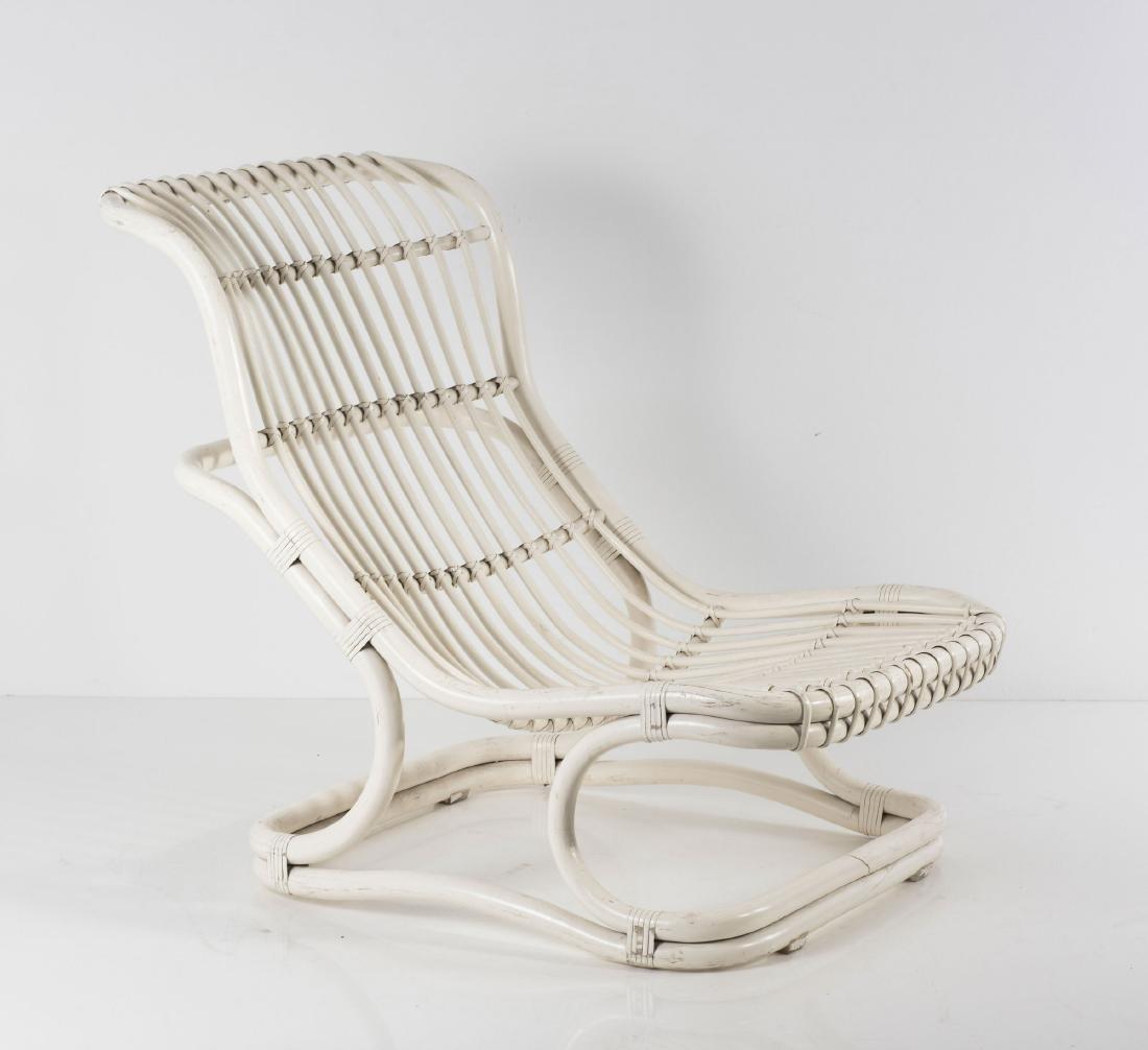 'Punto e Virgola' wicker chair, 1960s - 8