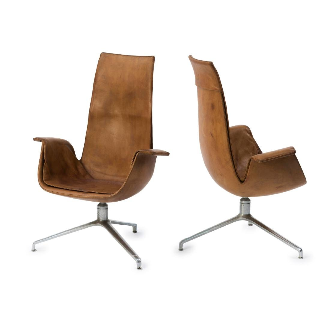 Two highback 'FK 6725' desk chairs, 1964