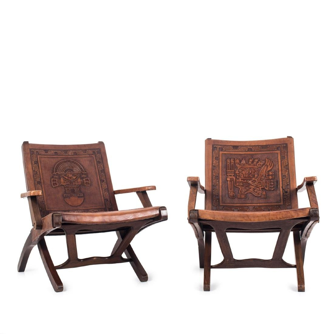 Two folding chairs, 1960s