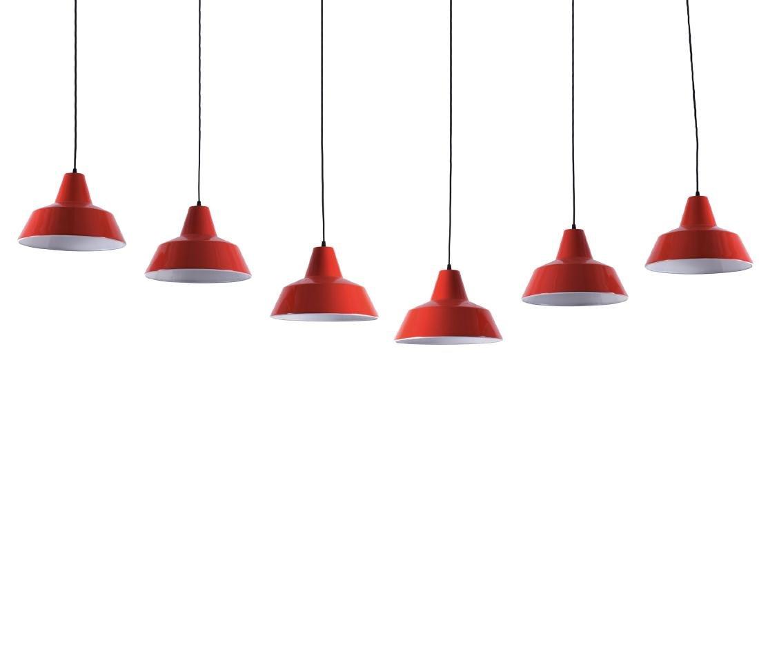 Six ceiling lights, 1960s