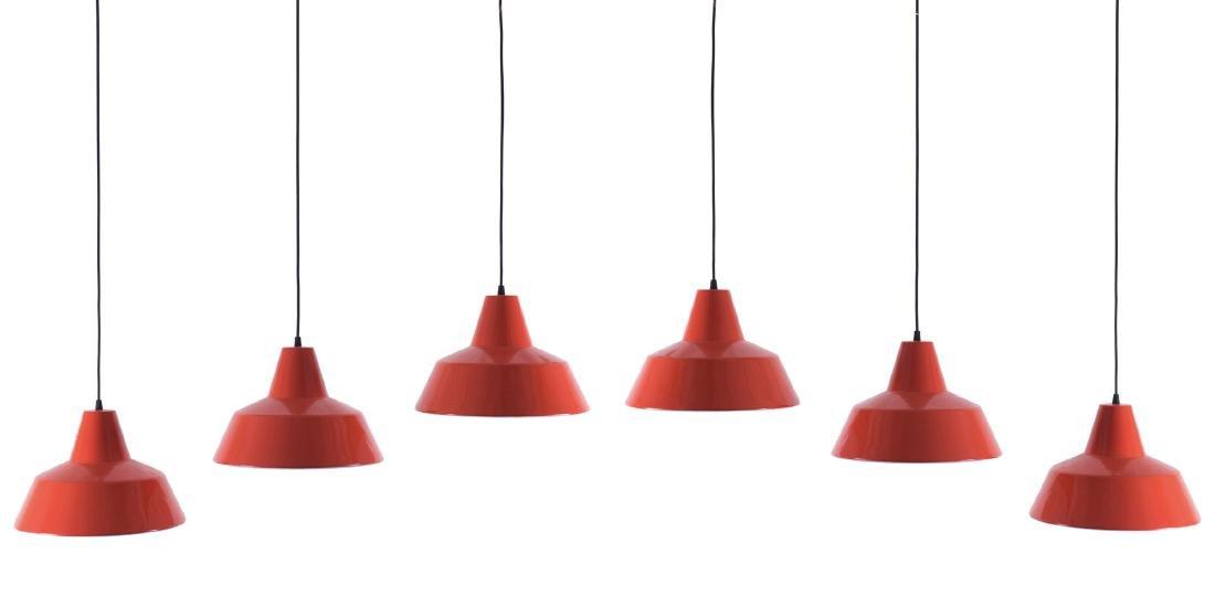 Six ceiling lights, 1960s - 2