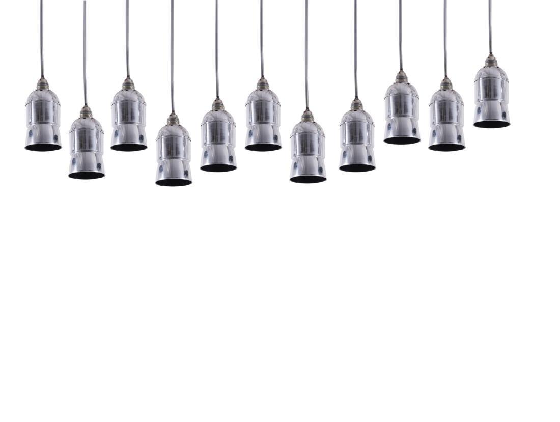 Ten pendant lights, 1960s