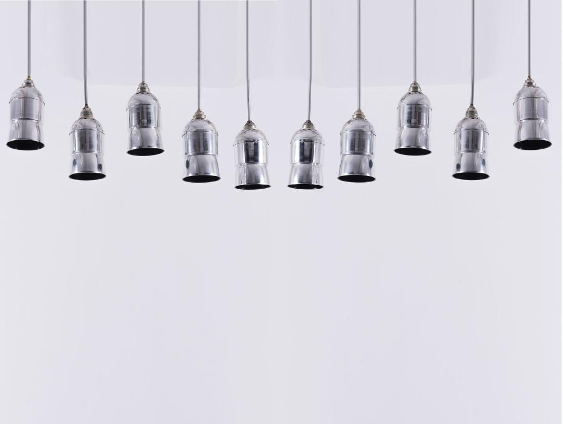 Ten pendant lights, 1960s - 3