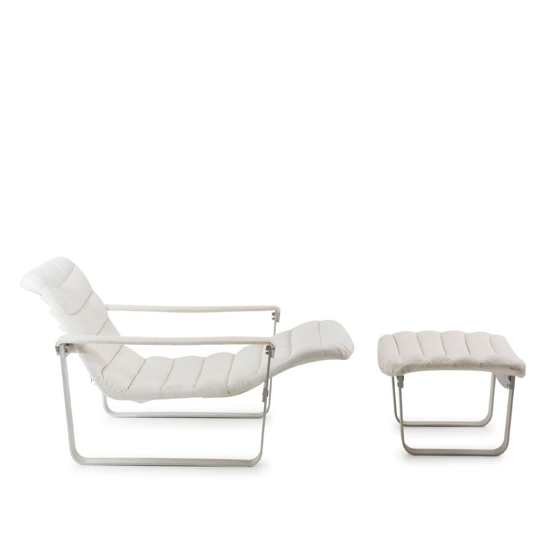 'Metal - pullka' easy chair with ottoman, 1968