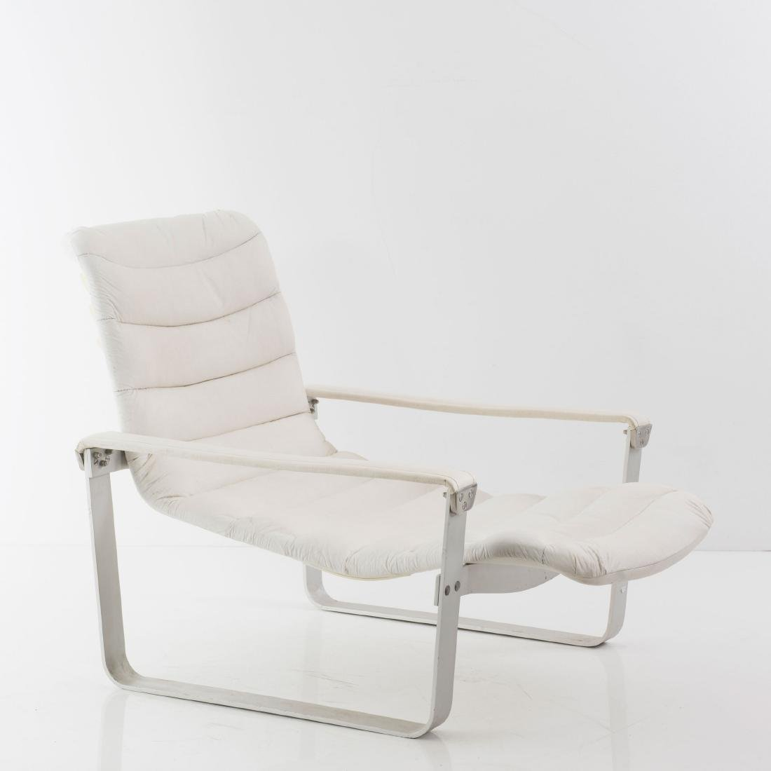 'Metal - pullka' easy chair with ottoman, 1968 - 5