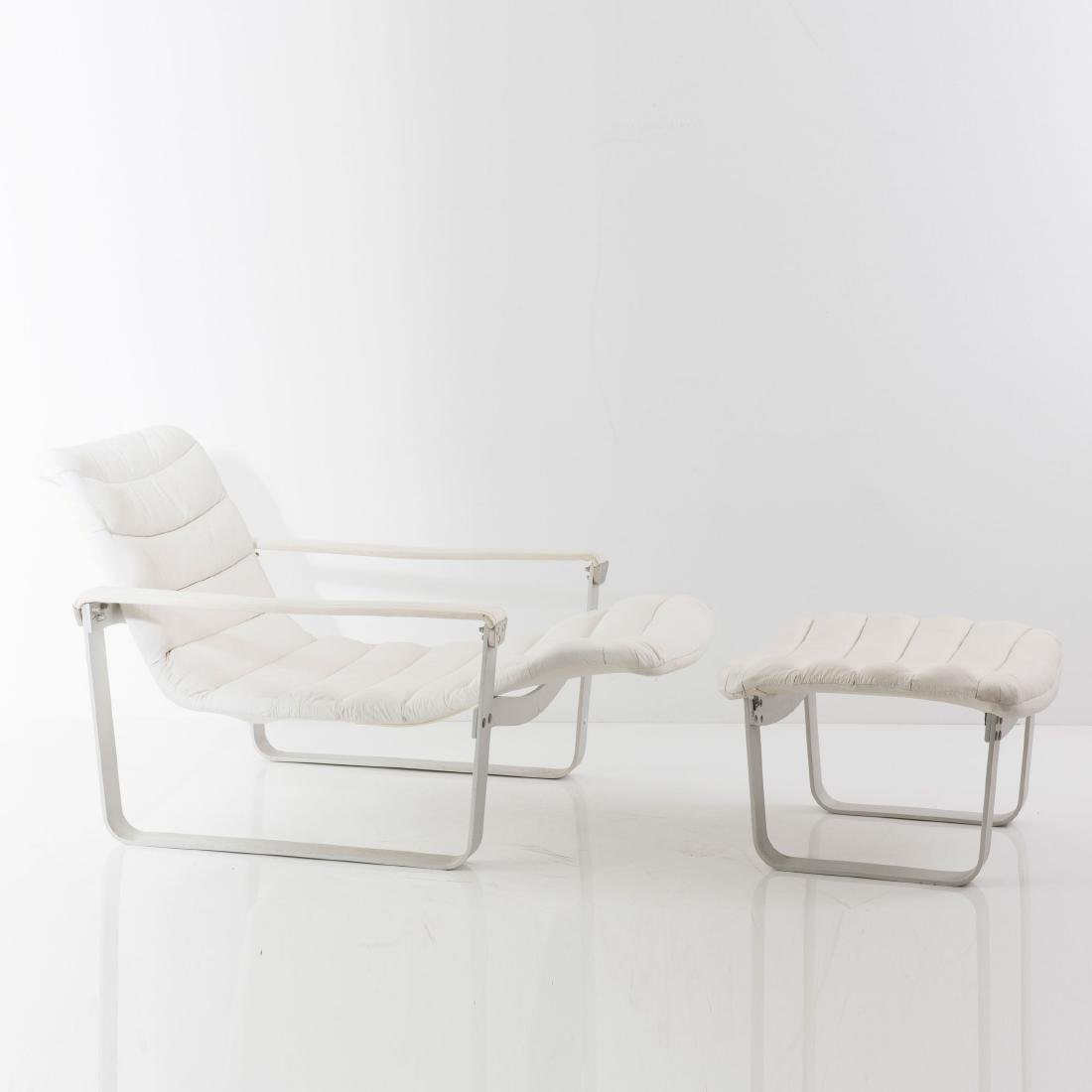 'Metal - pullka' easy chair with ottoman, 1968 - 6