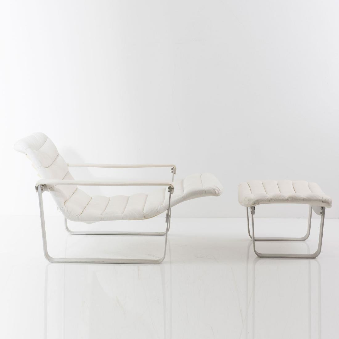 'Metal - pullka' easy chair with ottoman, 1968 - 8
