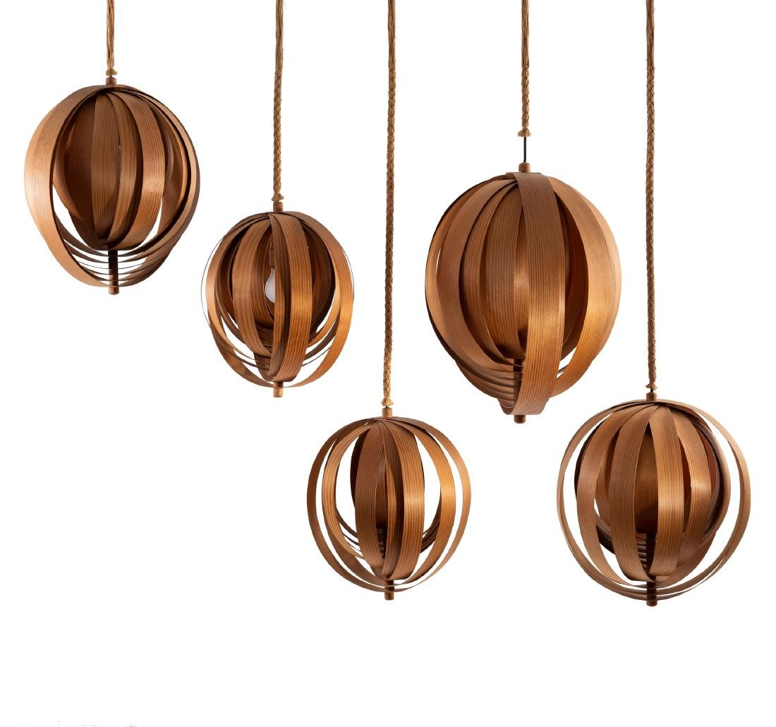 Ceiling light, five pieces, 1960s