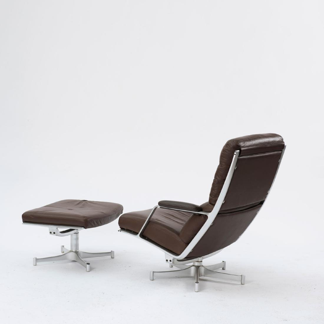 Two 'FK 85' easy chairs and one ottoman, c. 1968 - 3