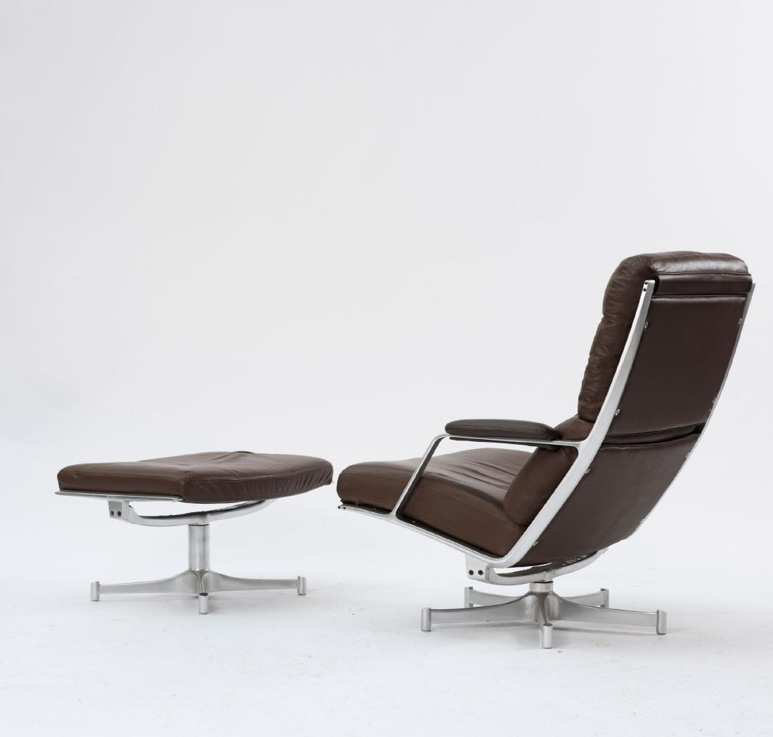 Two 'FK 85' easy chairs and one ottoman, c. 1968 - 4