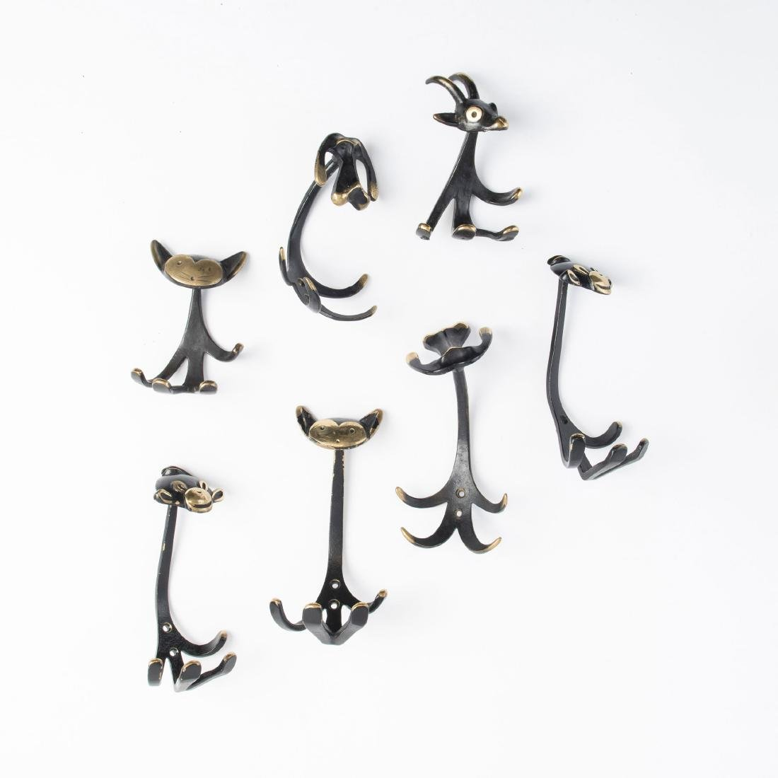 Seven coat hooks, c. 1950 - 2