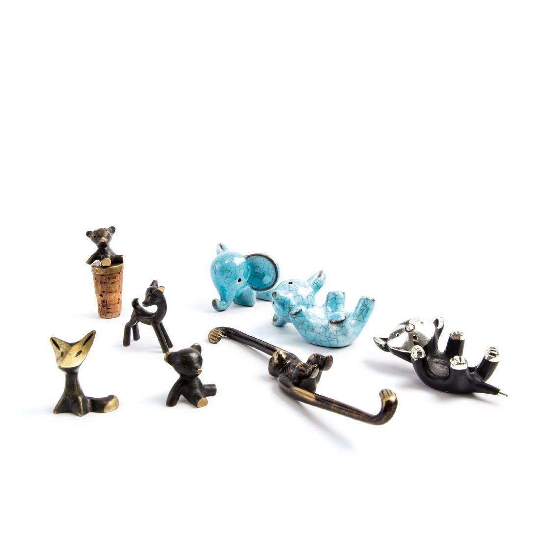 Animal figurines, 1950-56