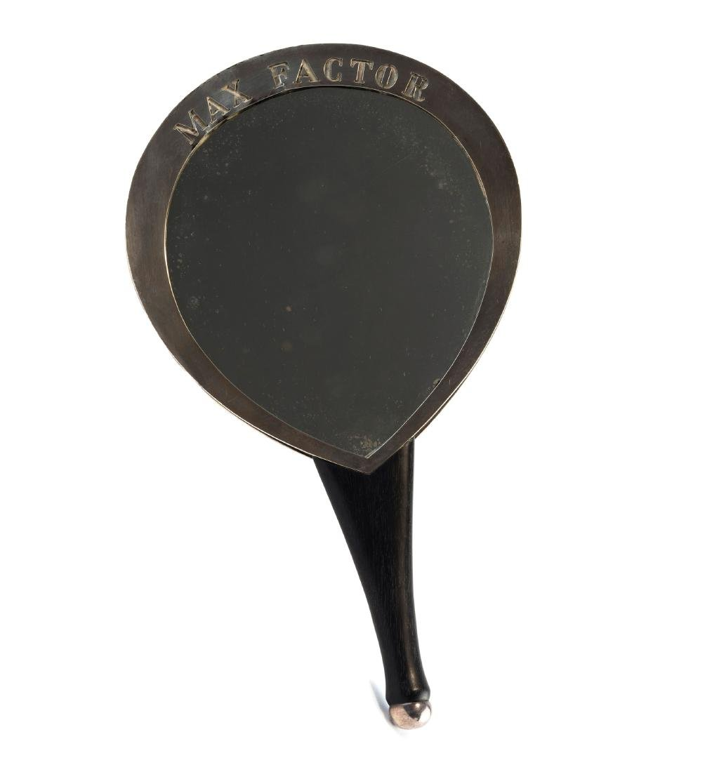 'Max Factor' hand-held mirror, 1958