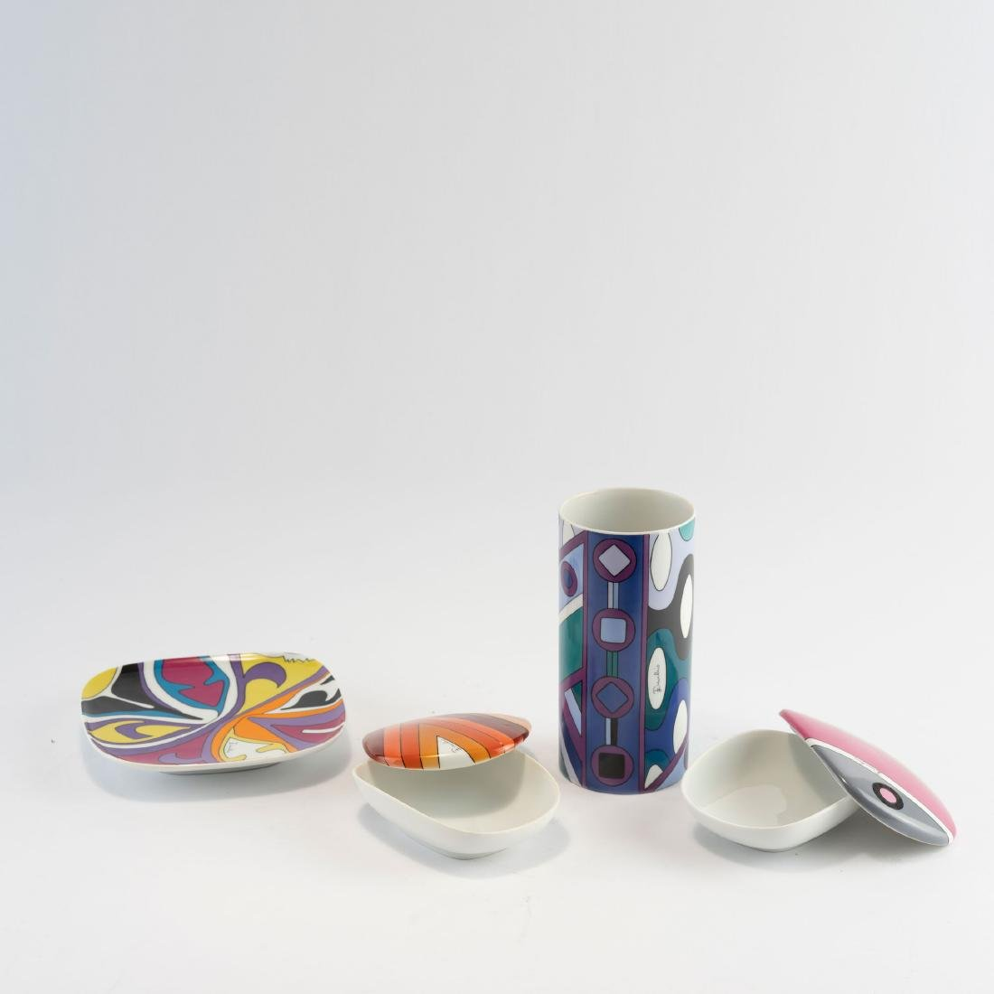 Vase, dish and two jars, 1960s - 4