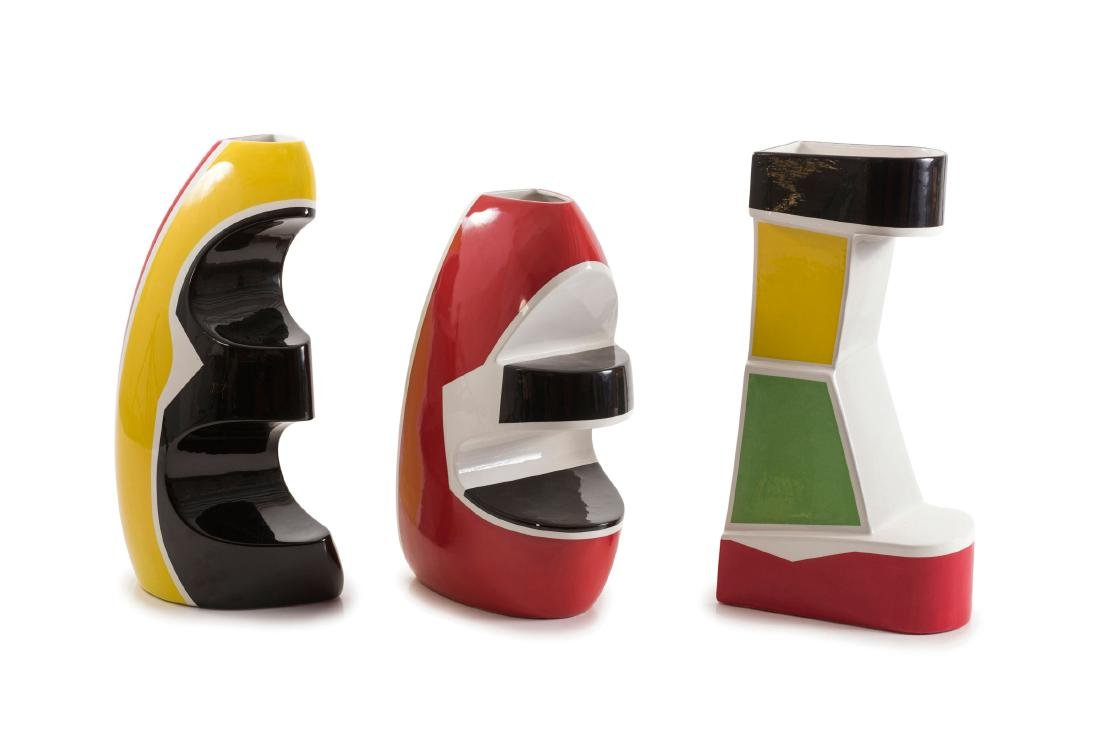 Three 'Yellow', 'Black' and 'Red' vases, 2006