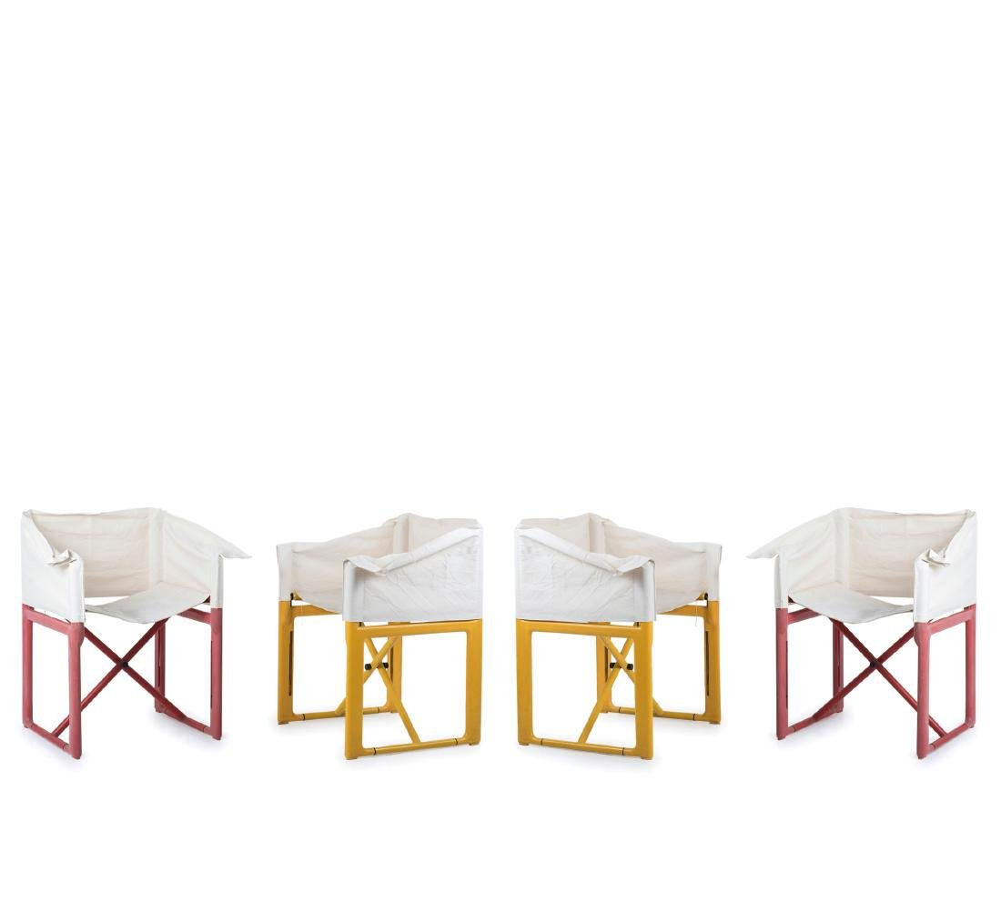 Four '4820' folding chairs, 1979