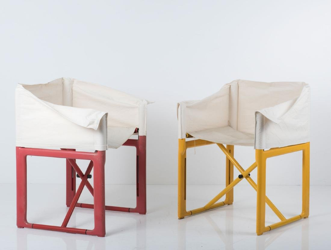 Four '4820' folding chairs, 1979 - 2
