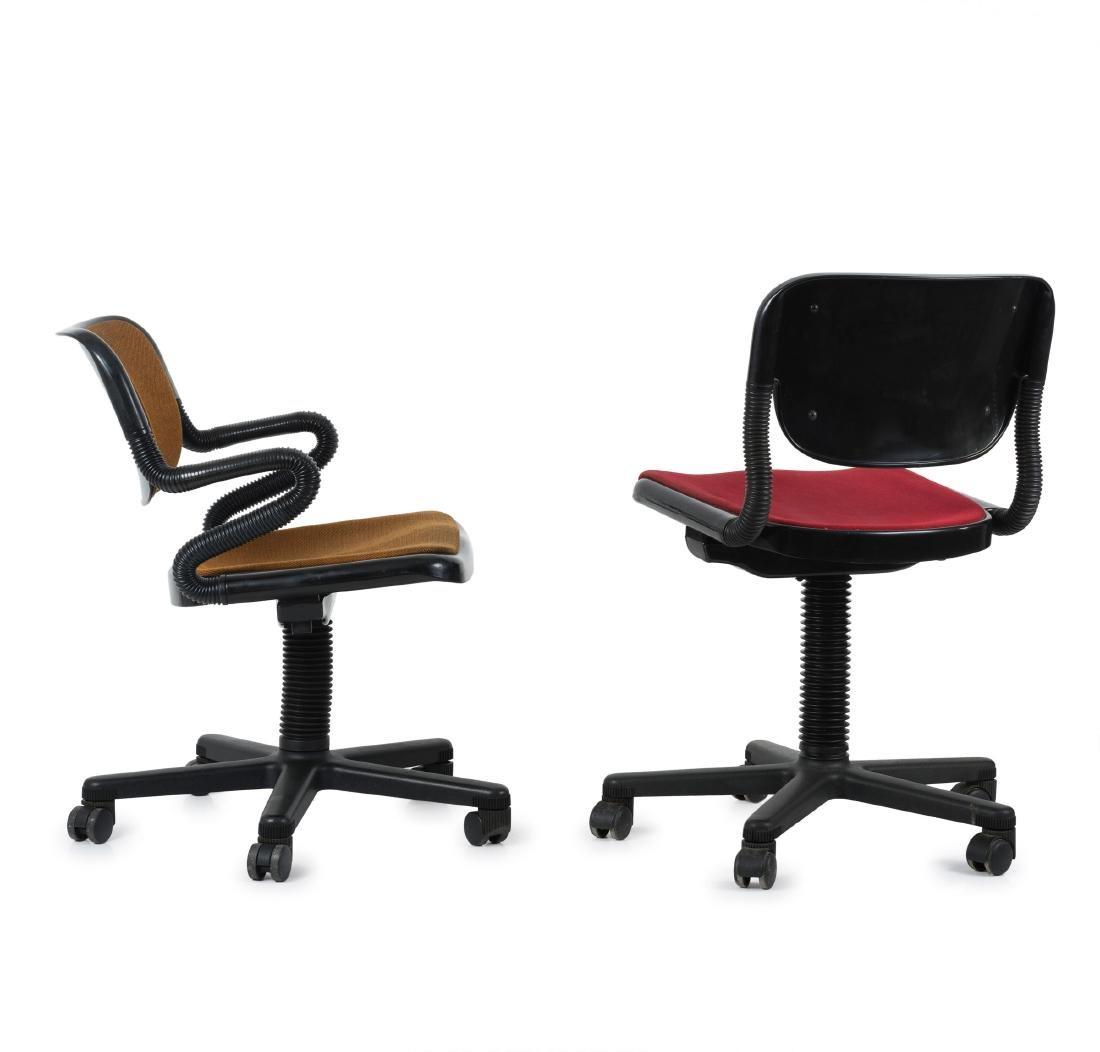 Two 'Vertebra' desk chairs, 1976