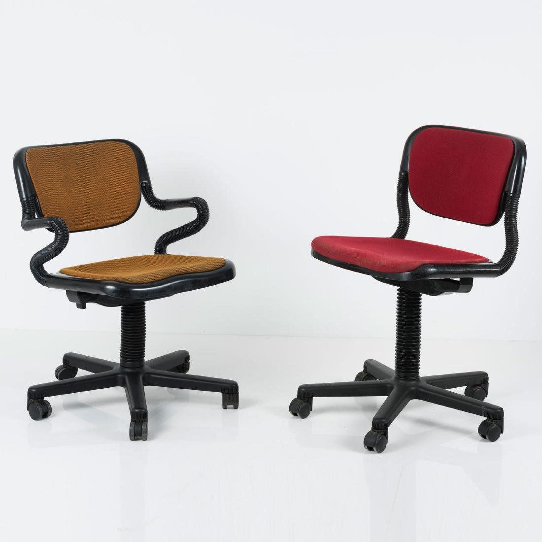Two 'Vertebra' desk chairs, 1976 - 2