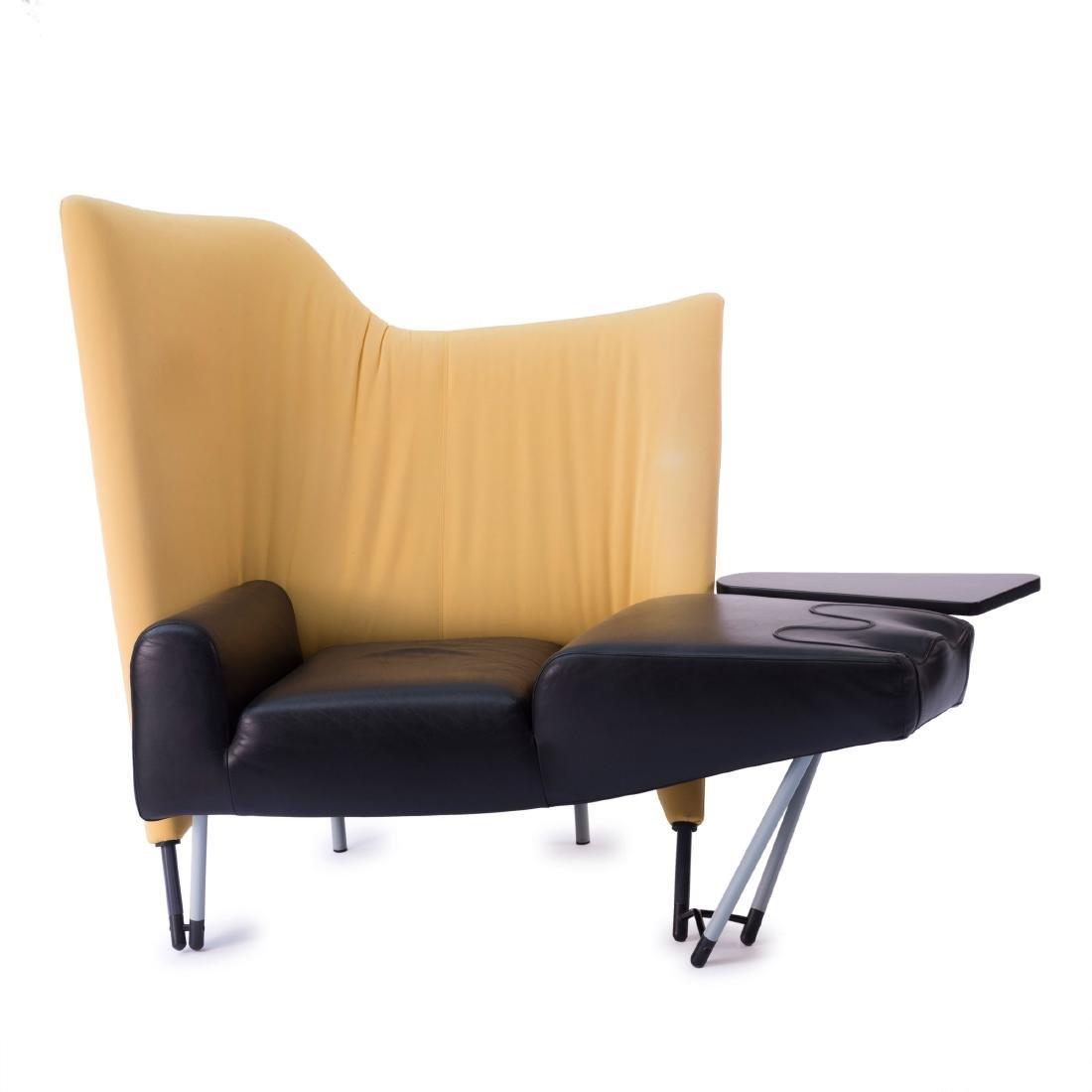 'Torso' lounge chair with ottoman, 1982