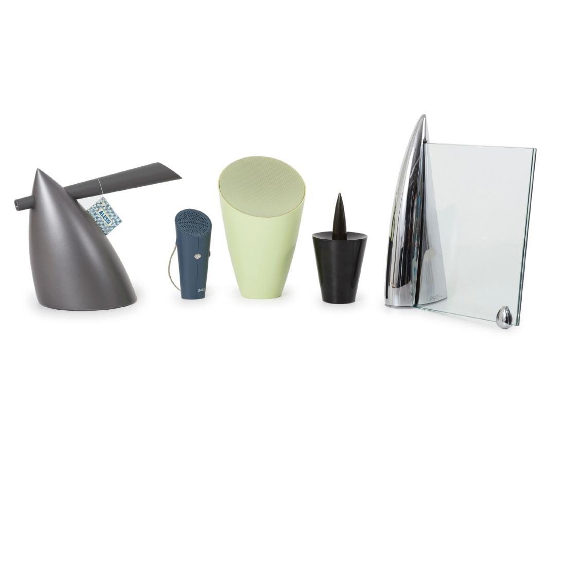 Five objects: 'Hot Bertaa' kettle, 1987, 'Shark' frame,
