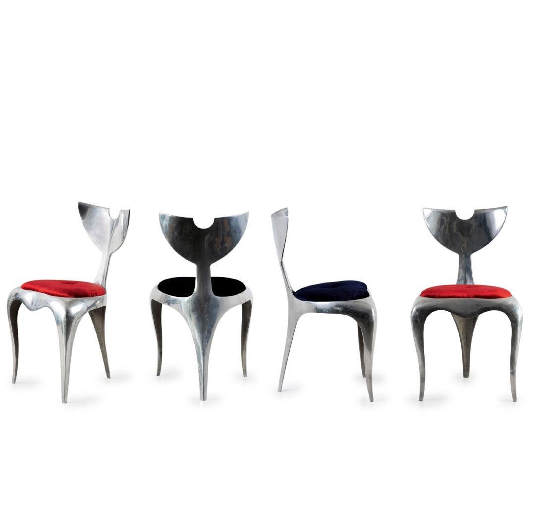 Four 'Whaletail' chairs, 1989