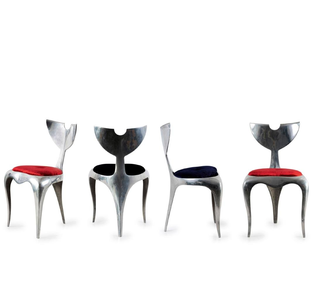 Four 'Whaletail' chairs, 1989