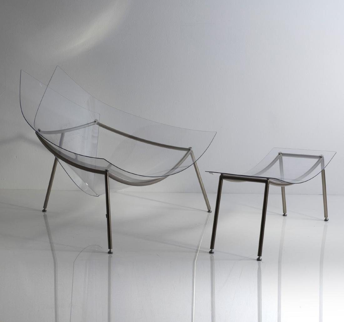 'Cone chair' with ottoman, 1998 - 4