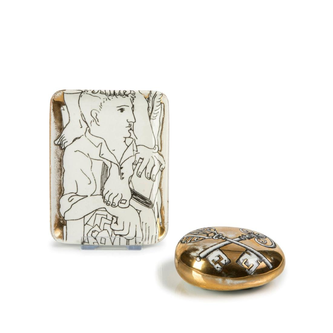 'Uomo' ashtray and 'Chiavi' paperweight, 1950/60s