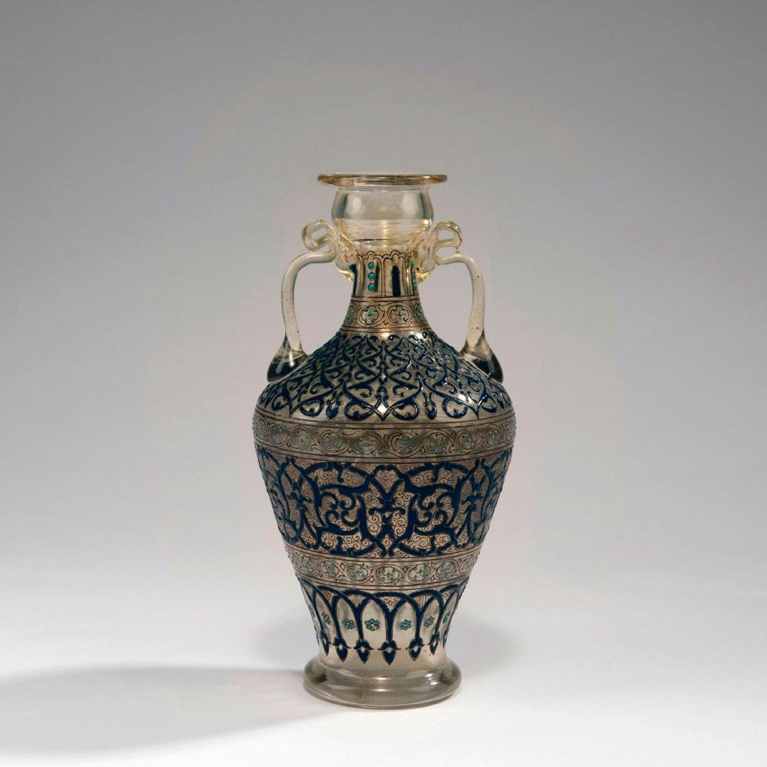 Vase with handles, dated 1880