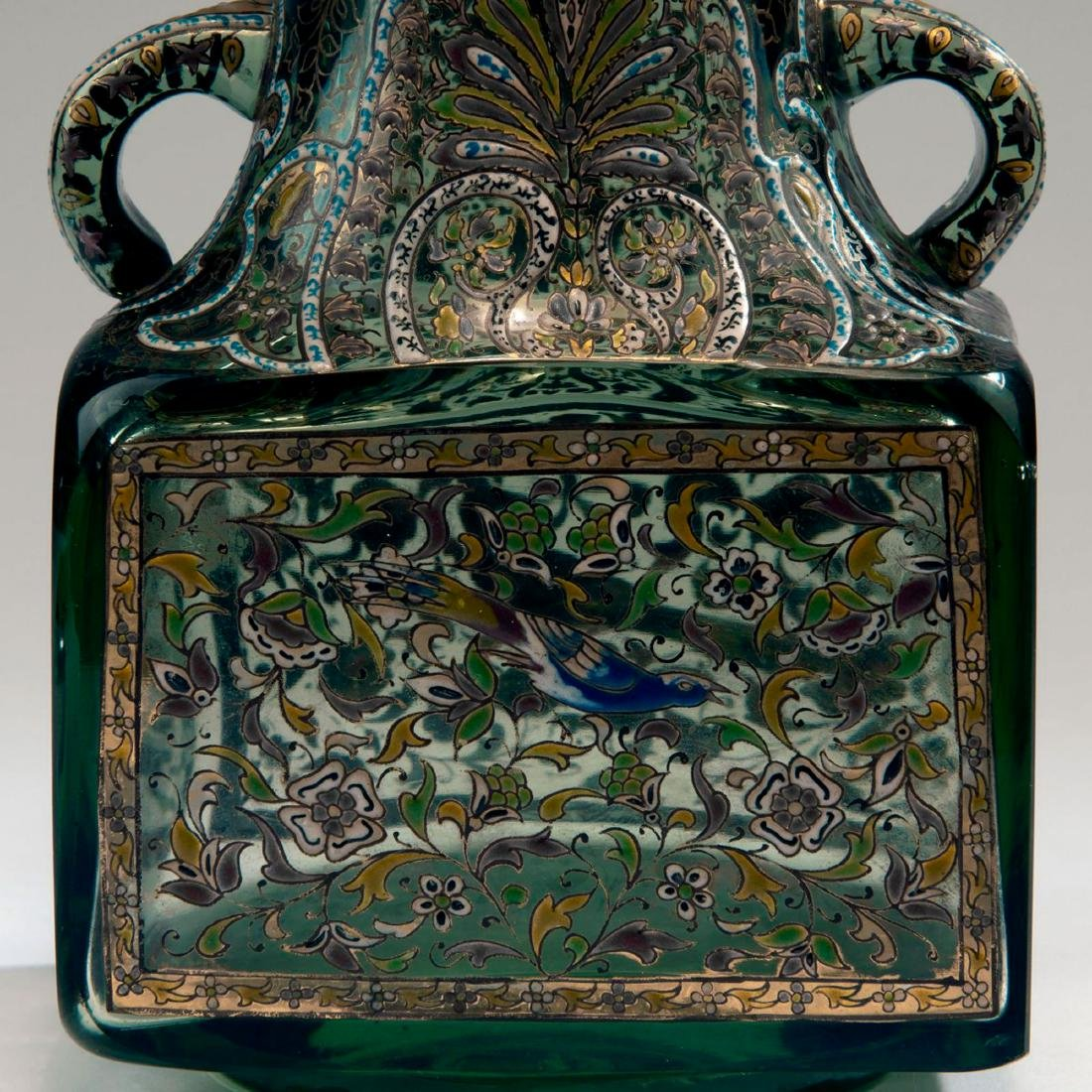 'Inspiration Persanne' vase with handles, c. 1880 - 4