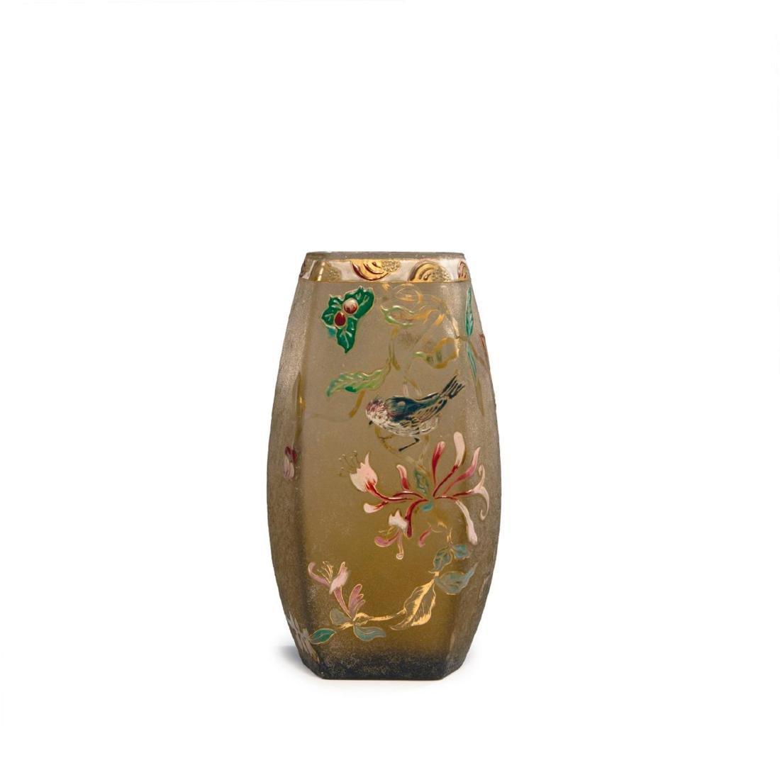 'Chèvre-Feuille et Moineau' vase, 1895-1900